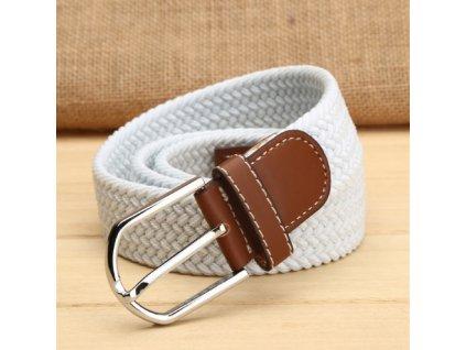 20645 elasticky pleteny pasik 10 farieb farba biela