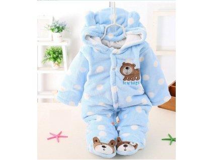 37676 dojcensky zimne overal s medvedikom 3 farby farba modra velkost 0 3 mesiace
