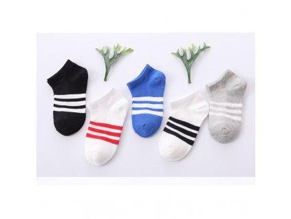 38261 detske pruhovane ponozky 5 parov velkost 1 3 roky