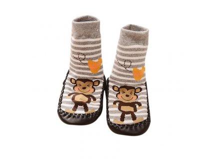 38930 detske ponozky s opickou velkost 12 24 mesiacov
