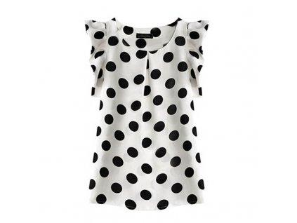 39014 damska bluza s bodkami velkost l