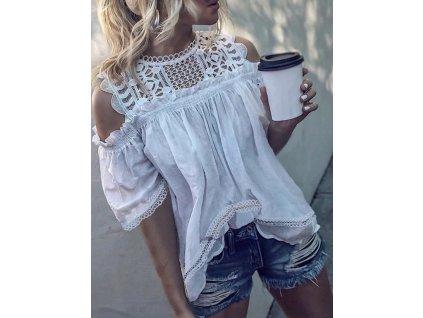 39578 damska bluza s odhalenymi ramenami