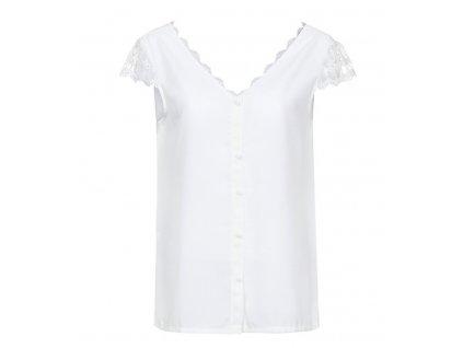 Dámska biela blúza (Farba Biela, Veľkosť XS)