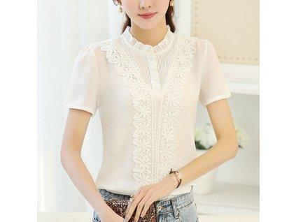 41261 2 elegantna bluza s kvetinami farba biela velkost xs