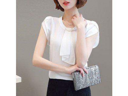 41300 damska jednofarebna bluza farba biela velkost s