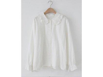 42077 elegantne bluza s gombikmi farba biela velkost xs