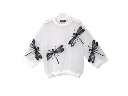 42470 damska priesvitna bluza s vazkami farba biela