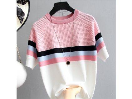44288 damska bluza so vzorom a1 farba ruzova