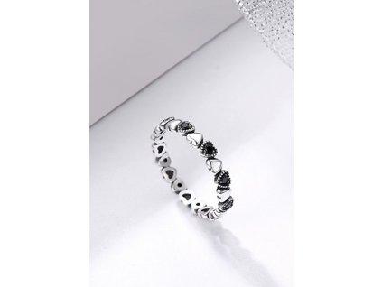 47630 damsky strieborny prsten 2 srdce varianta 6
