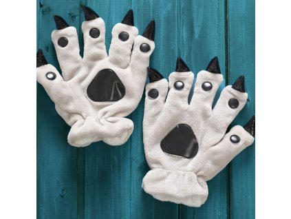 49337 rukavice s pazury farba biela
