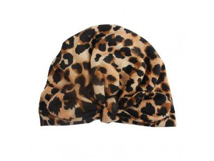49598 detska ciapka leopardi varianta 1 farba hneda