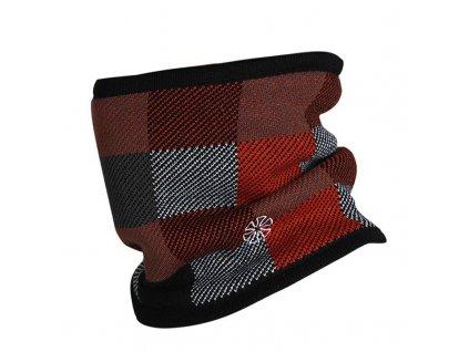 51590 zimny nakrcnik s kockovanym vzorom farba cervena