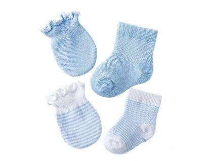 51671 detsky set rukavice a ponozky 4 pary farba svetlo modra