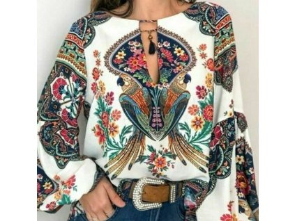 56288 damska bluza sa vzormi farba biela velkost xs