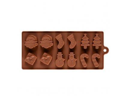 56621 forma na cokoladu vianocne motiv