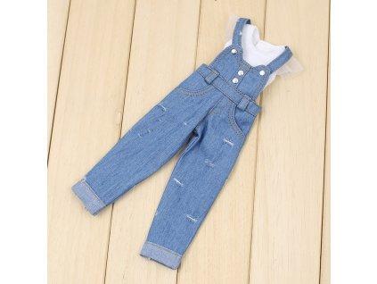 56699 oblek pre barbie tricko a traky farba svetlo modra