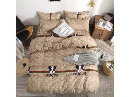 0 28 Good Stuff BestSeller 2019 Lovely Doggie Printing Duvet Cover Men Style Brown PureColor Bedsheet Bedding