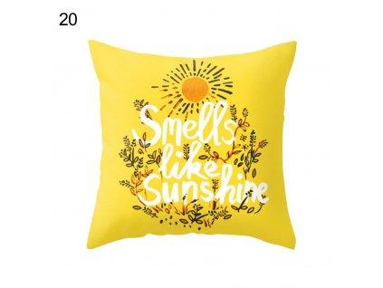 22 45 x 45cm Yellow Striped Pillowcase Geometric Waist Throw Cushion Pillow Cover Soft Cool Pillow Case
