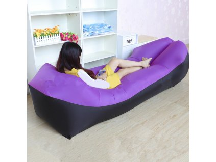 5 Lazy Pillow Waterproof Lazy Inflatable Sofa Portable outdoor beach air sofa bed Sleeping bag bed Oxford
