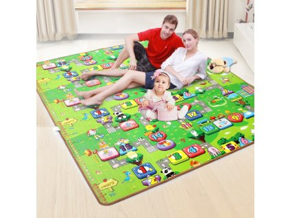 0 Baby Play Mat 0 5cm Thick Foldable Crawling Mat Double Surface Baby Carpet Rug Cartoon Game