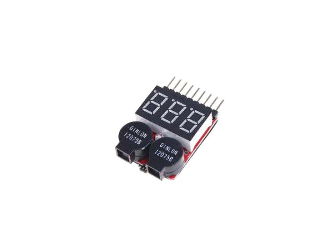 Tester Li-Po batérií s výstrahou 8Článok - alarm