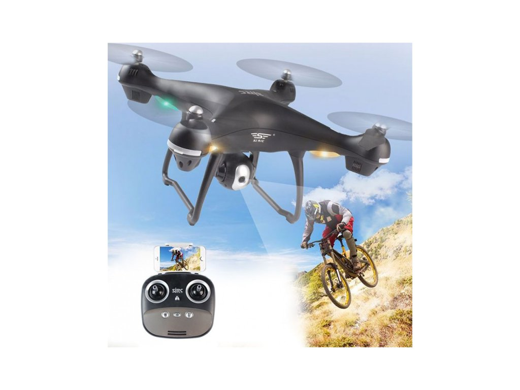 RC DRON S GPS A FOLLOW ME - SJ70W - čierna