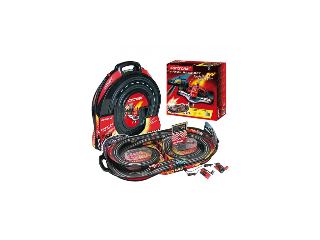 cartronic travel race set prenosna zavodni draha v kufru