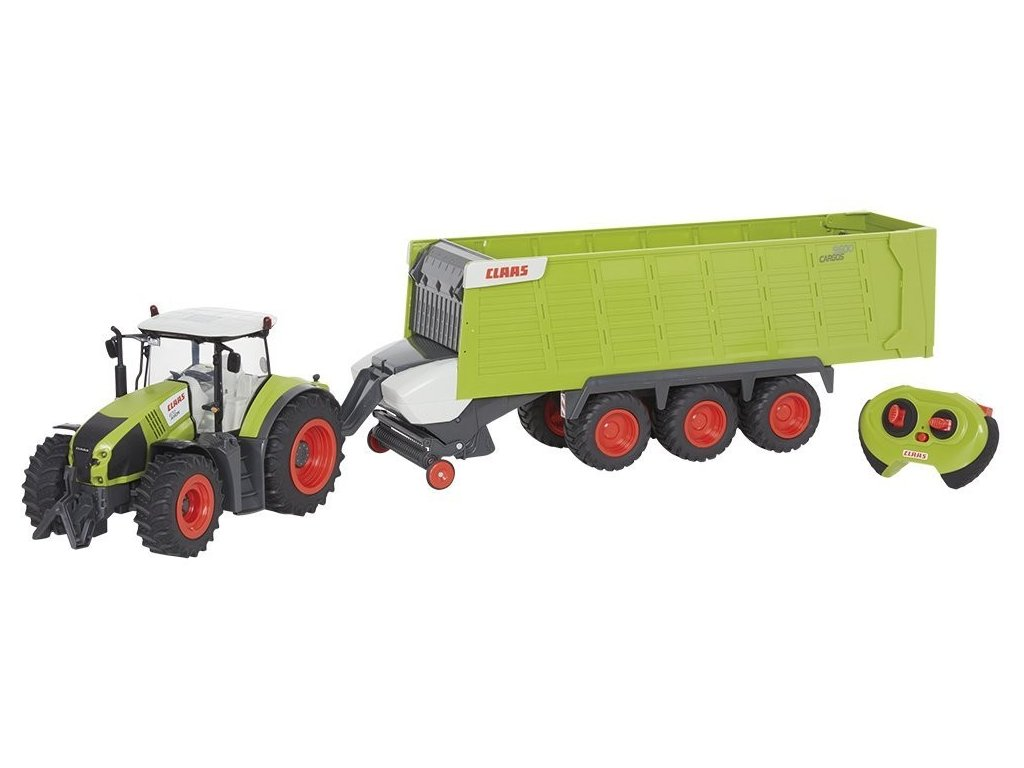 RC traktor CLAAS AXION 870 + príves Cargos 9600