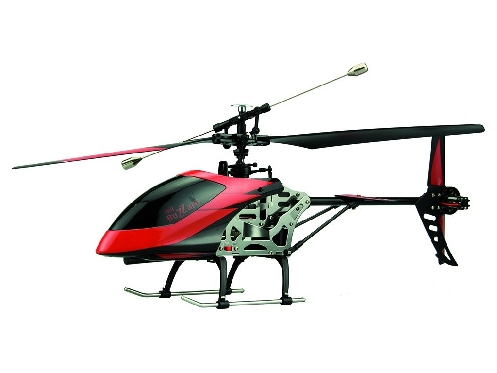 Veľký RC vrtuľník Buzzard červený