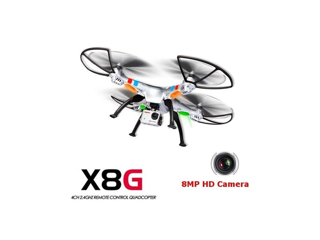 SYMA X8G - 8Mpix HD kamera - dlhá doba letu