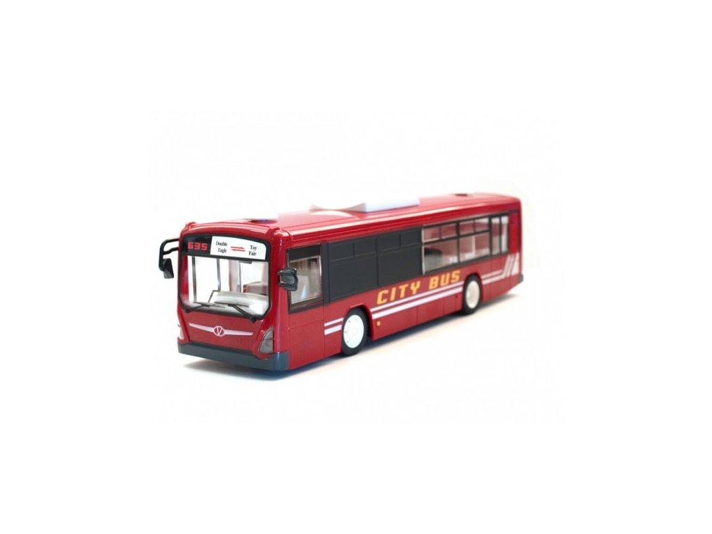 Mestský autobus na diaľkové ovládanie, červená