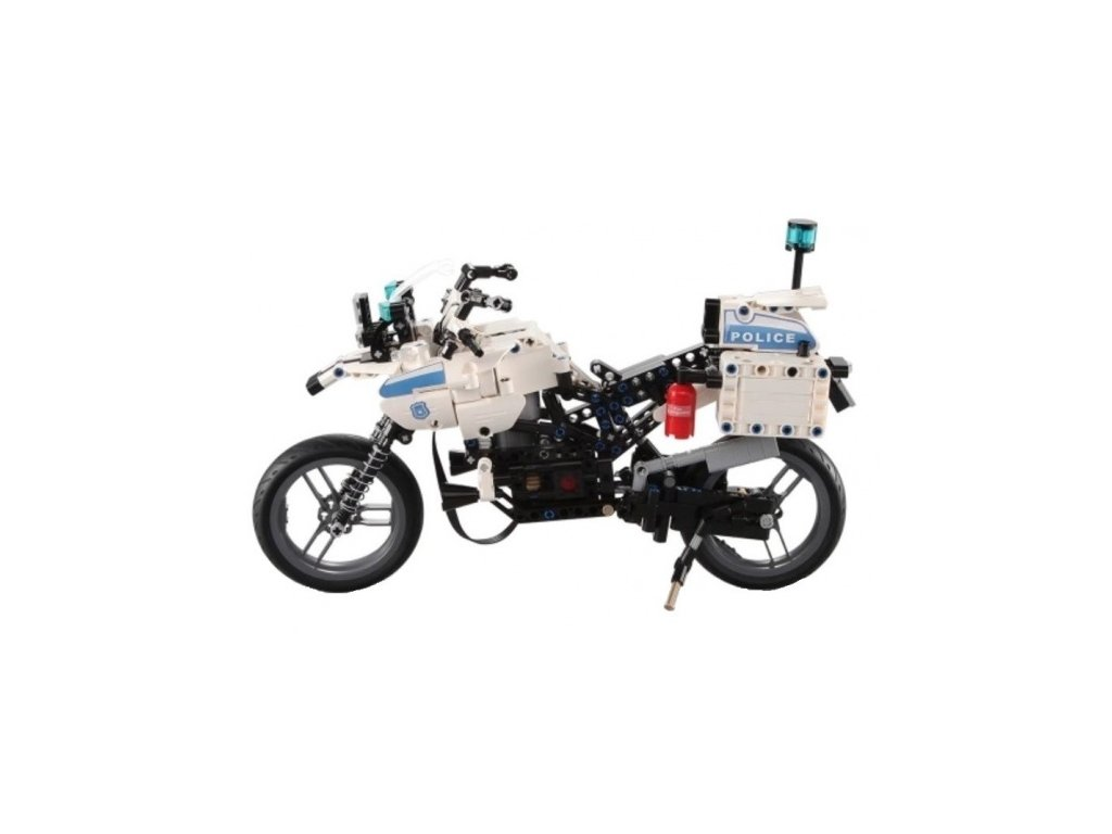 Policajná motorka - stavebnica - 539 dielikov