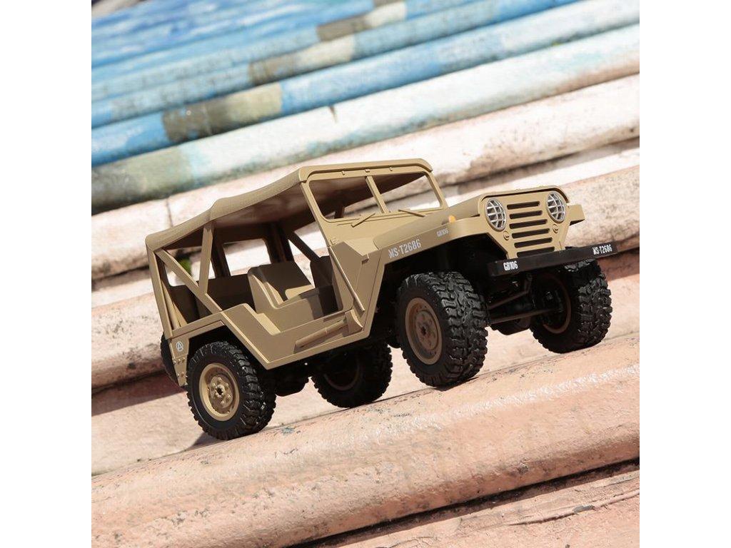 Americký RC Jeep M151 1:14 pieskový
