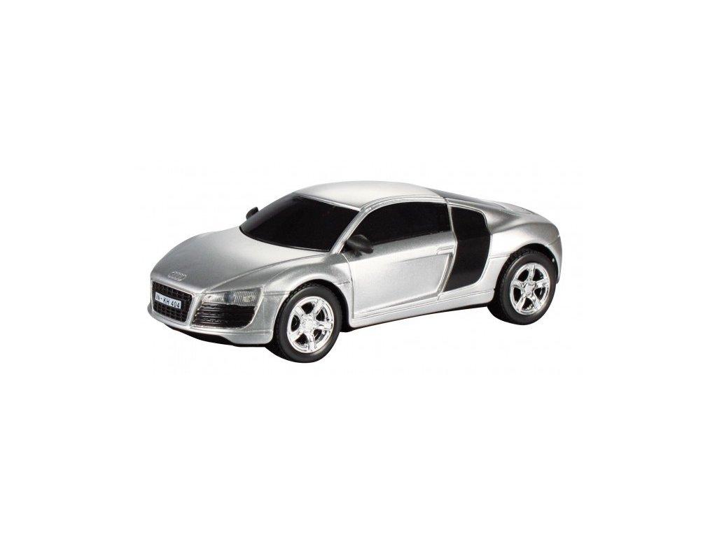 Model Audi R8 - stříbrná