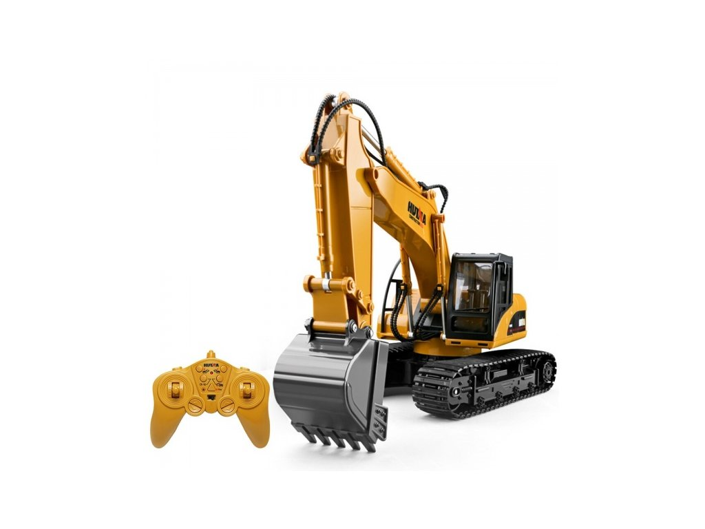 huina 1550 1 14 15ch 680 degree rotation alloy bucket rc excavator construction vehicle toy with (1)