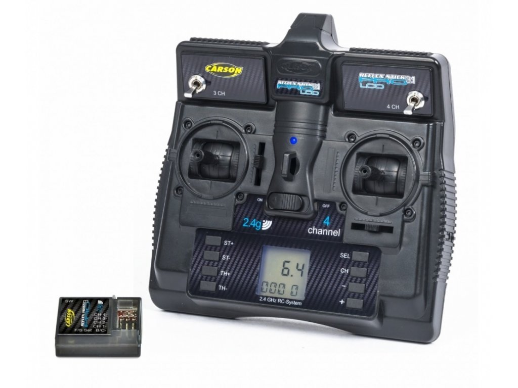 RC súprava CARSON Reflex Stick Pro s LCD displejom, 4 Kanál, 2,4GHz
