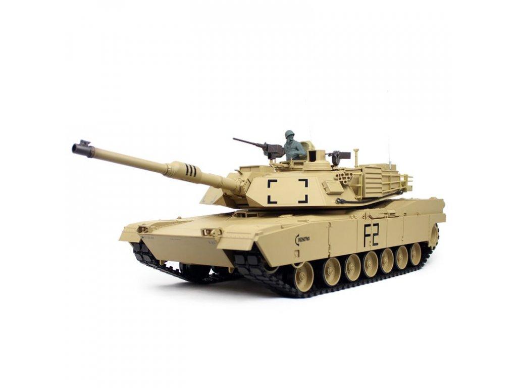 RC Tank M1A2 ABRAMS BB 1:16 dym, zvuky