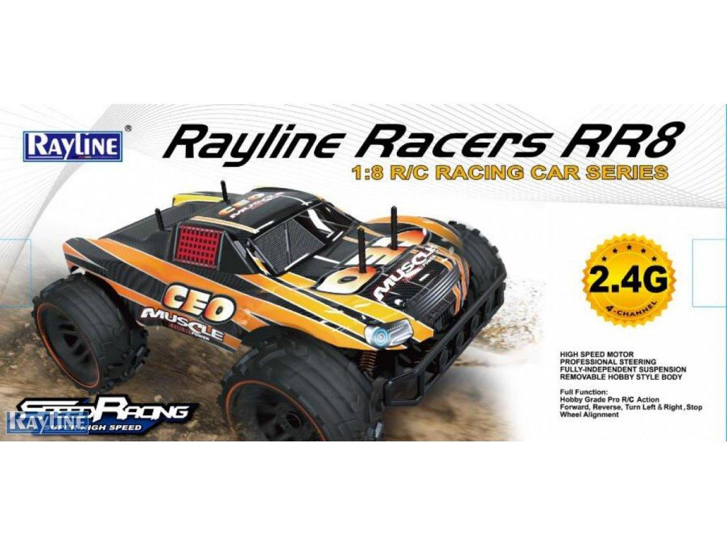 RC Auto RACERS 1:8 ŽLTÁ