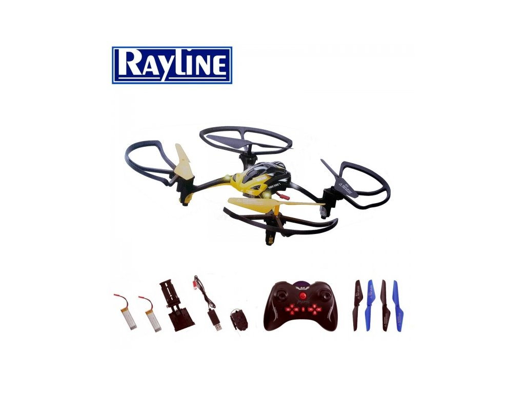 Rayline R8 s on-line FPV prenosom - žltá