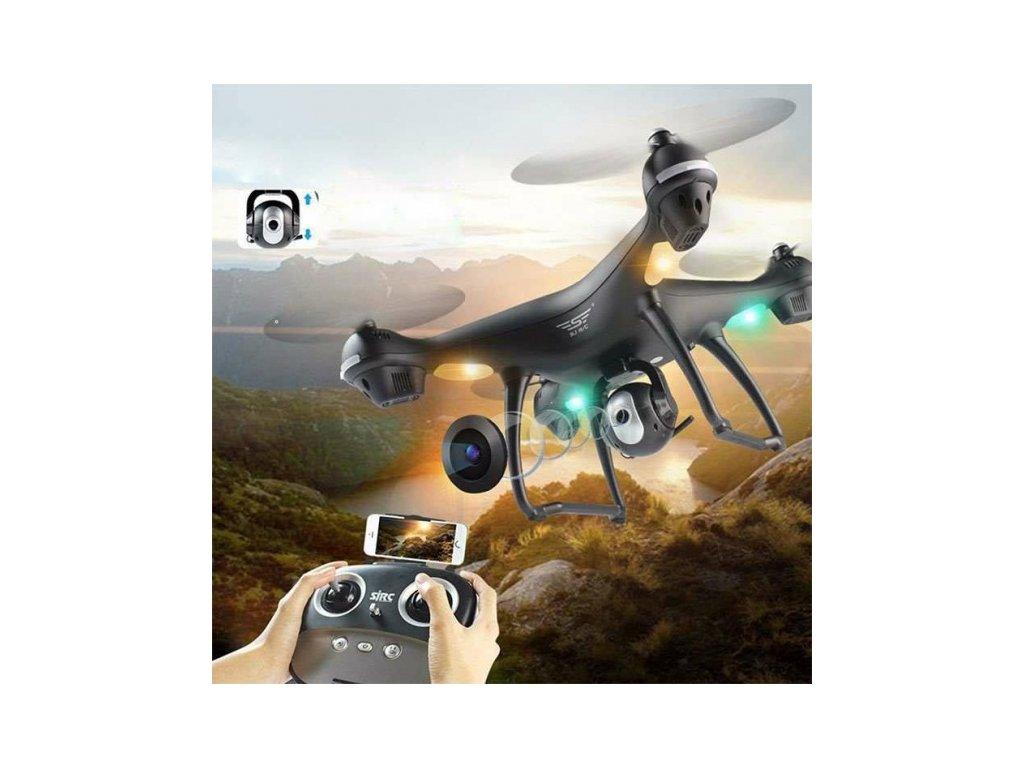 RC dron SJ70W s GPS a FHD kamerou - čierny