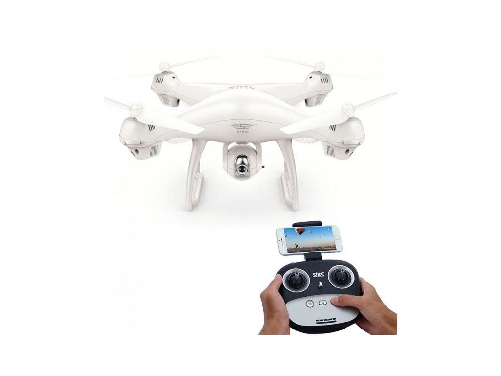RC dron SJ70W s GPS a FHD kamerou - biely
