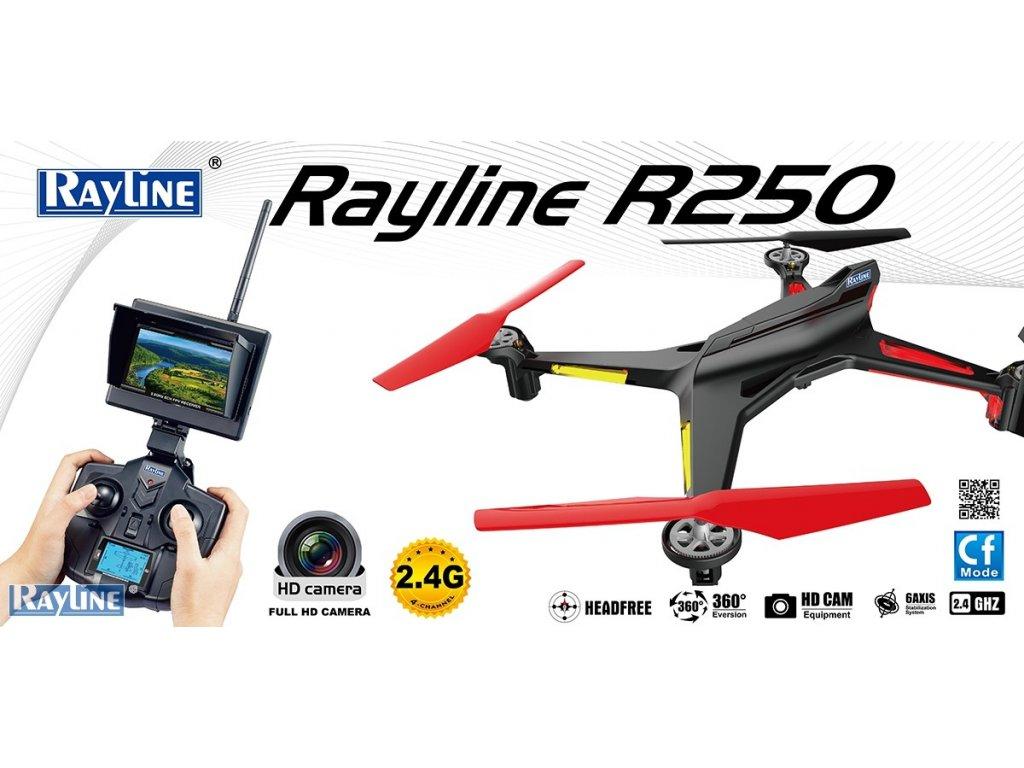 Rayline R 250 s FPV- polozávodný Dron