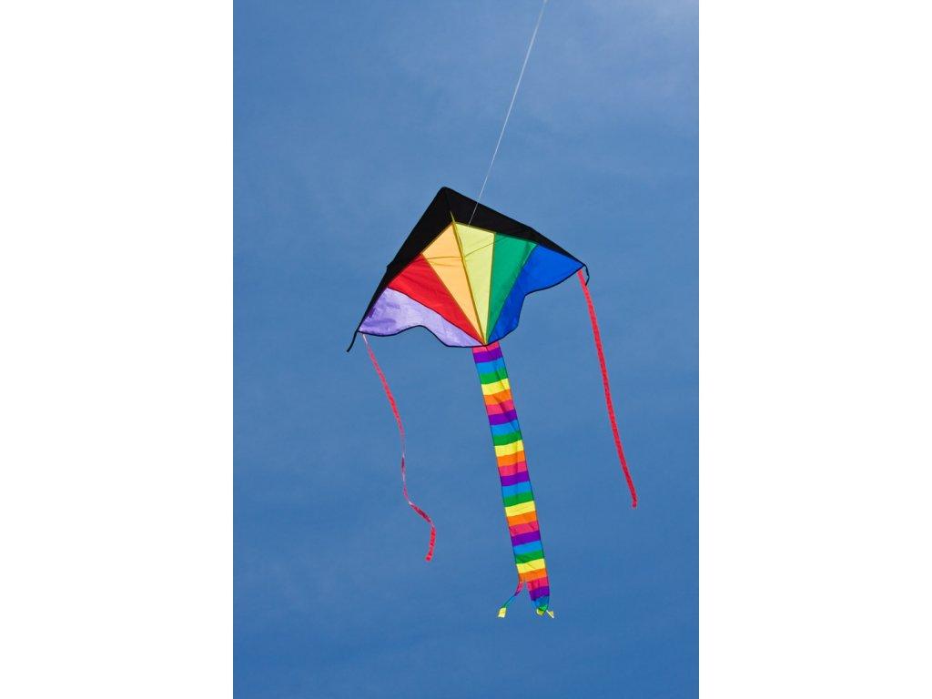 Lietajúci šarkan Ecoline Simple Flyer Rainbow 120cm