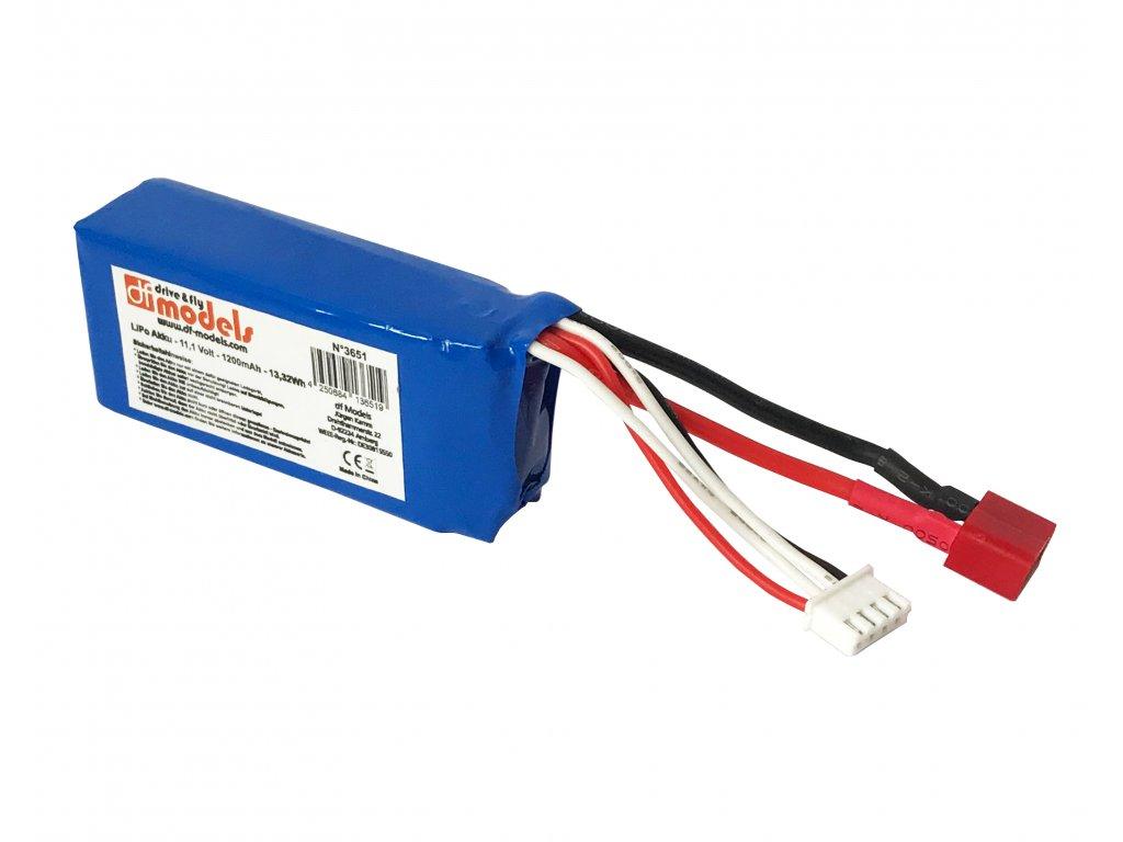 LiPo baterie 3S - 11,1 Volt - 1200mAh do 3650 AVANTI BL