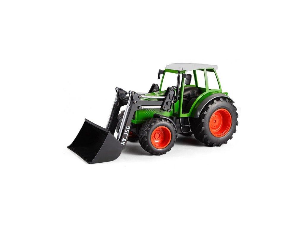 RC Traktor s funkčným čelným nakladačom 1:16