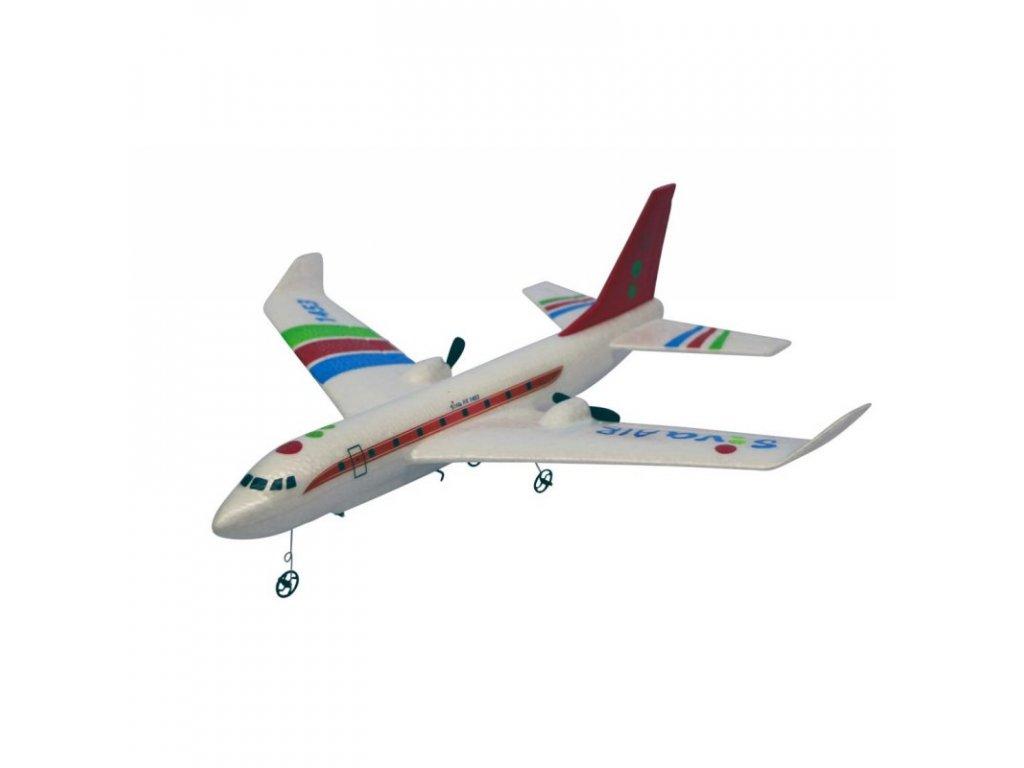 RC Airbus RTF s gyroskopickou stabilizáciou,  2,4 GHz  červený