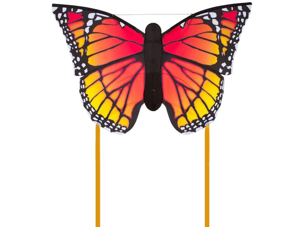 Šarkan motýľ červeno žltý 130 cm