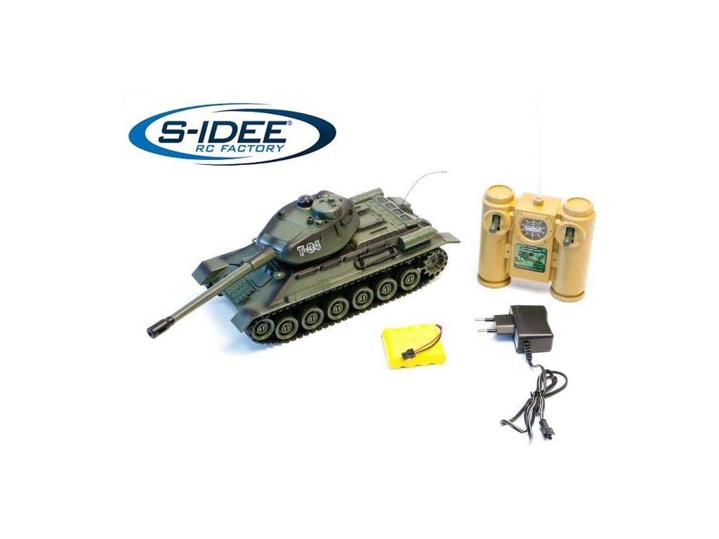 Bojujúci rc tank T34 2,4 GHz s infra delom, bojujúci 1:28