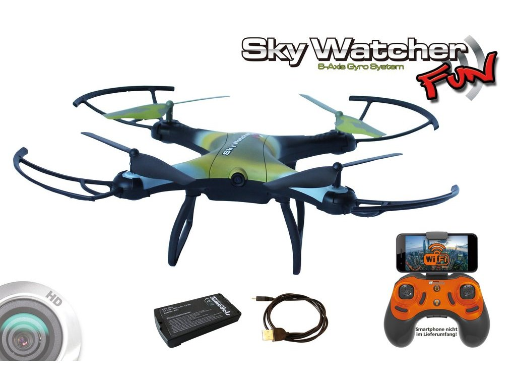 RC dron SkyWatcher FUN - WIFI - RTF - FPV 20 MIN.