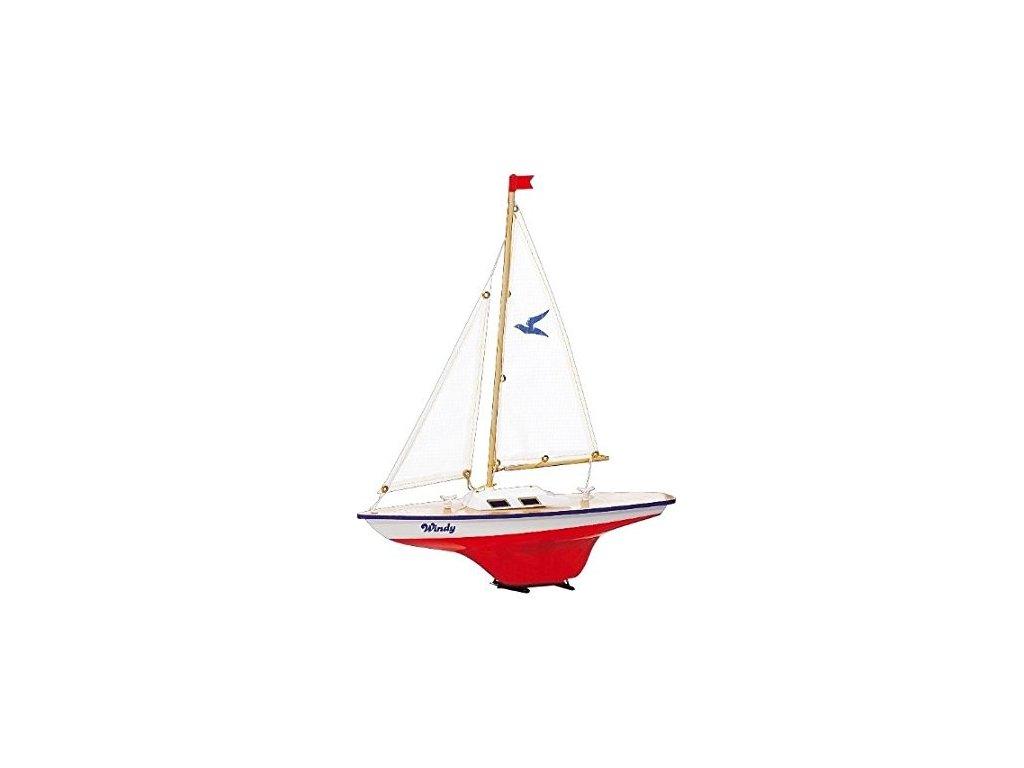 Model plachetnice pre deti WINDY 35 x 42 cm (drevo)